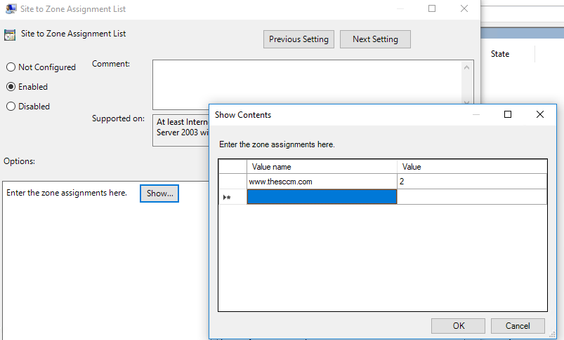 Use Intune Policy CSP manage Windows 10 settings - Internet